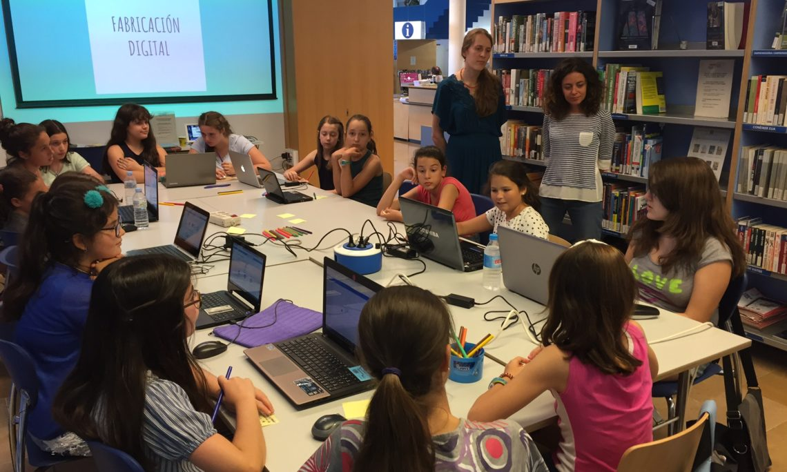 girlstech summer camp at the american space barcelona focuses on